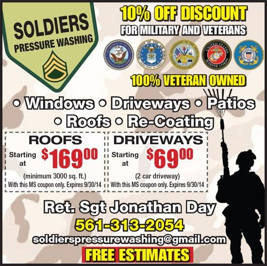 Coupons for Soldiers Pressure Washing | My Living Magazines