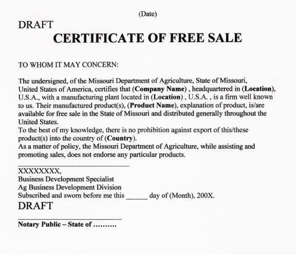 Step By Step Guide to Apostille Certificate of Free Sale ...