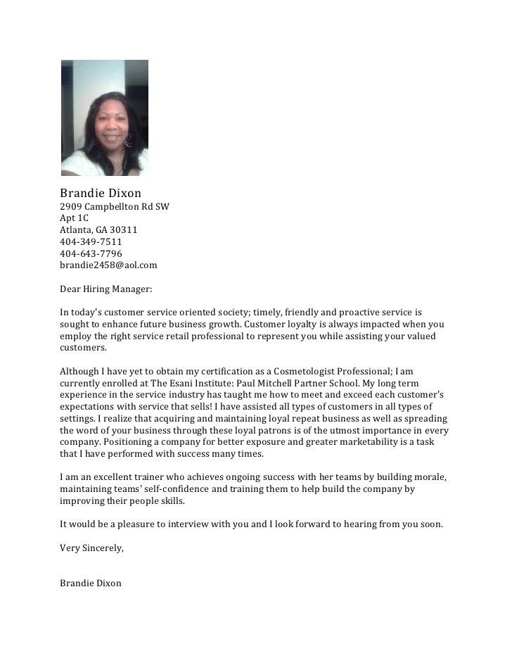 Cosmetology Cover Letter Samples Latest Resume Format for ...