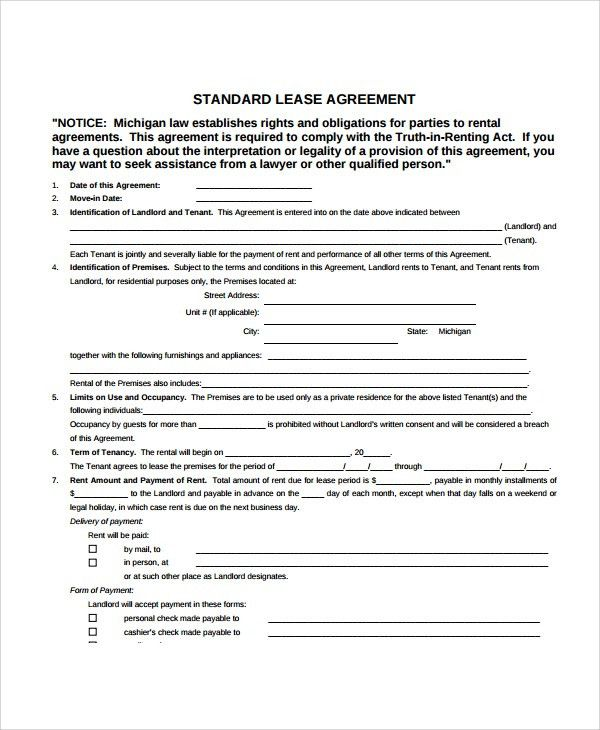 Sample Apartment Lease Agreement - 7+ Documents In PDF, Word