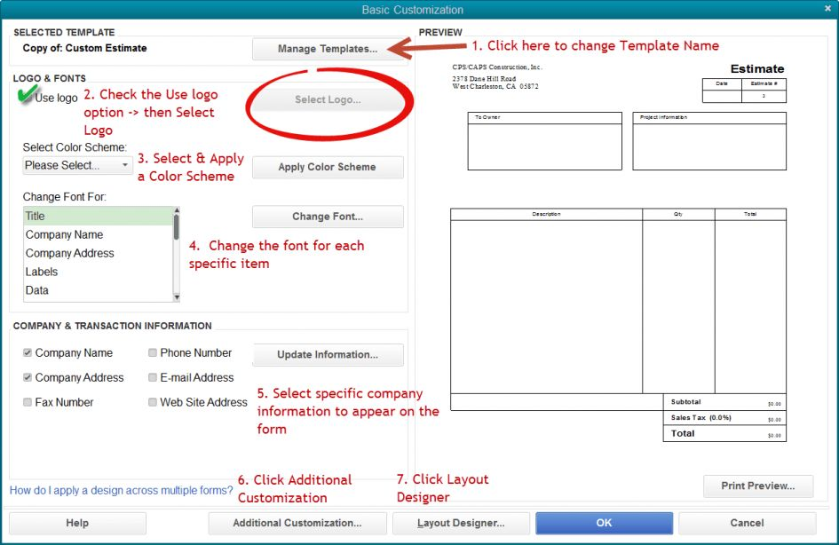 Checks Template QuickBooks Invoice Template Download Quickbooks ...
