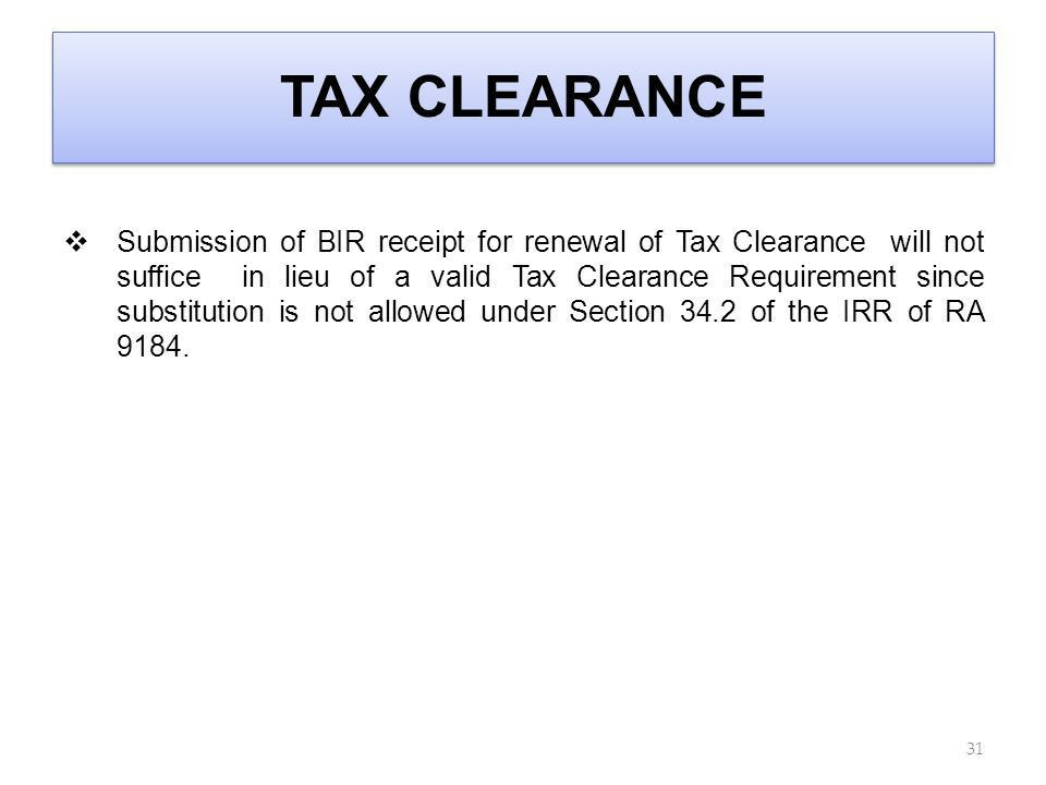 Sample Request Letter For Tax Clearance Certificate In The ...