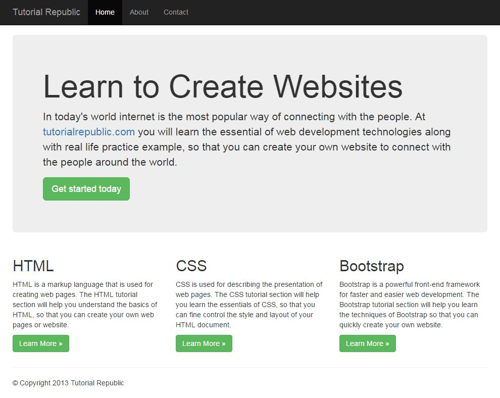 Working with Bootstrap 3 Fixed Layout - Tutorial Republic