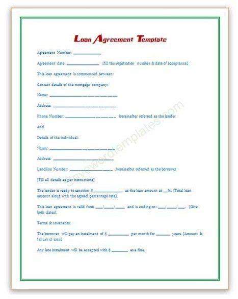Loan Agreement Template | Microsoft Word Templa...