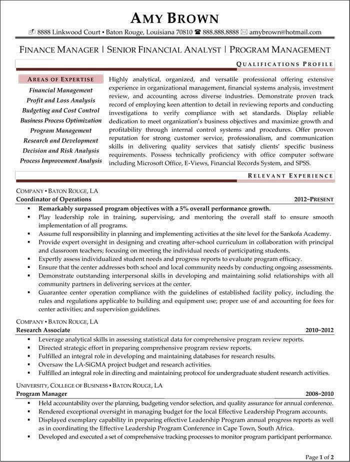 Job Resume: Financial Analyst Resume Sample Business Analyst ...