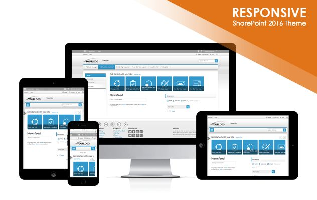 Pleasant Tones 2016 SharePoint 2016 Responsive Theme Package ...
