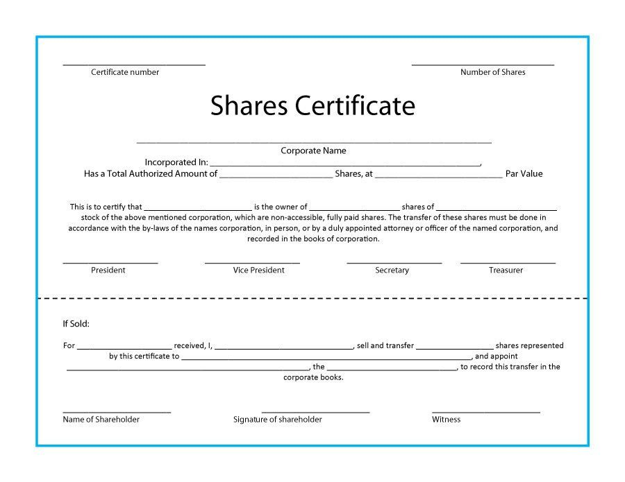41 Free Stock Certificate Templates (Word, PDF) – Free Template ...