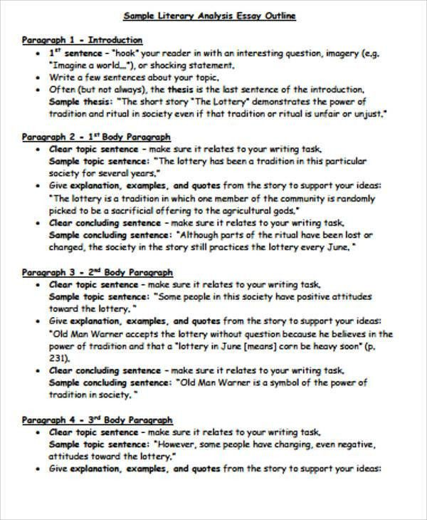Literary Essay Example - 9+ Samples in Word, PDF