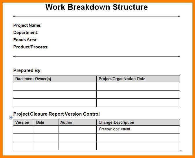 6+ work breakdown structure excel template | farmer resume