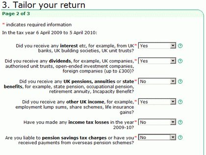 Filling in the Inland Revenue self assessment online tax form