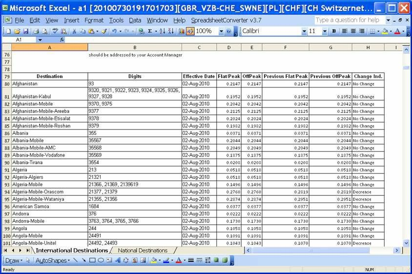Converting the Excel rate sheet with one-line per title and one ...