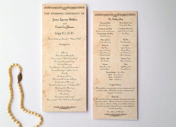 8+ Vintage Wedding Program Templates - PSD, Vector EPS, AI ...