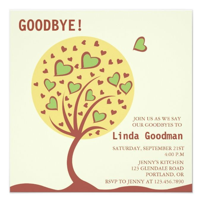7 best Invitations images on Pinterest | Farewell parties ...