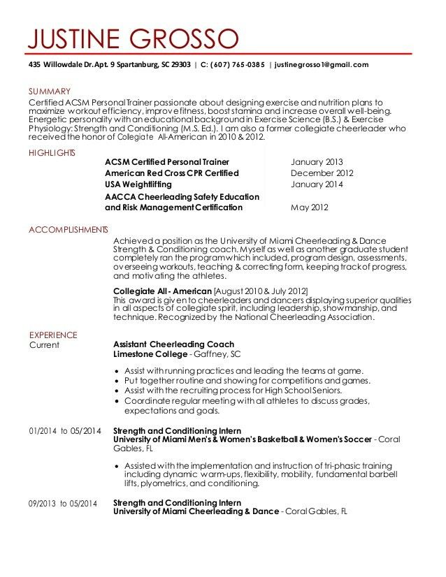 Coaching Resume Examples] Coach Resume Example Sample, Free ...