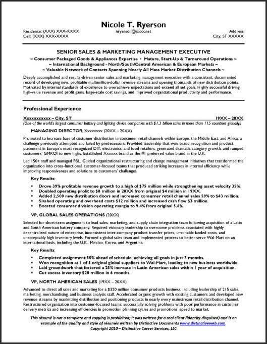 sales manager resume general manager resume