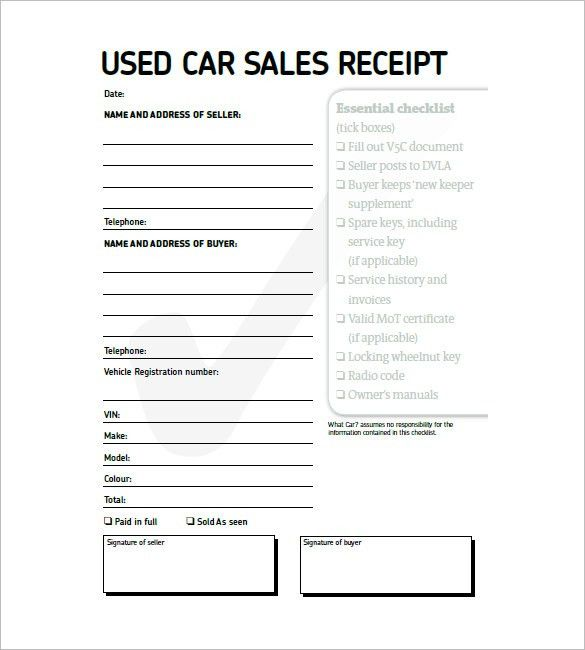 Car Invoice Templates – 8+ Free Word, Excel, PDF Format Download ...