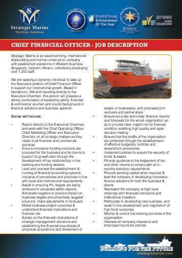 10 chief financial officer job description templates free. job ...