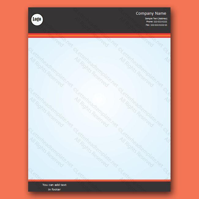 letterhead template word - Free Letterhead Templates