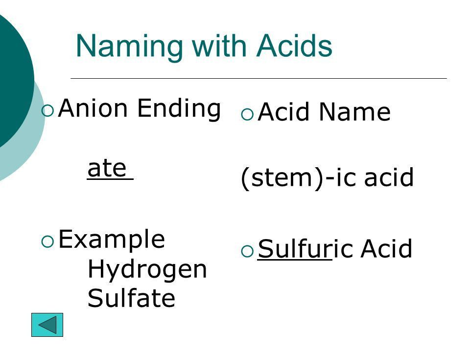 Chemical Names and Formulas Overview Metals and Non-Metals Ions ...