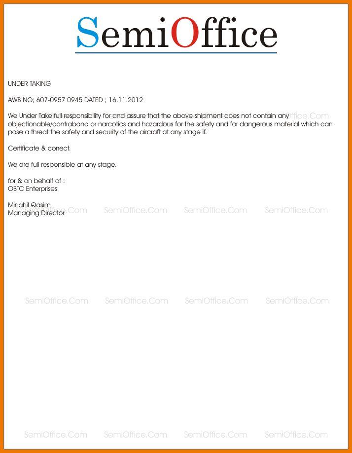 5+ letter undertaking   postal-carrier