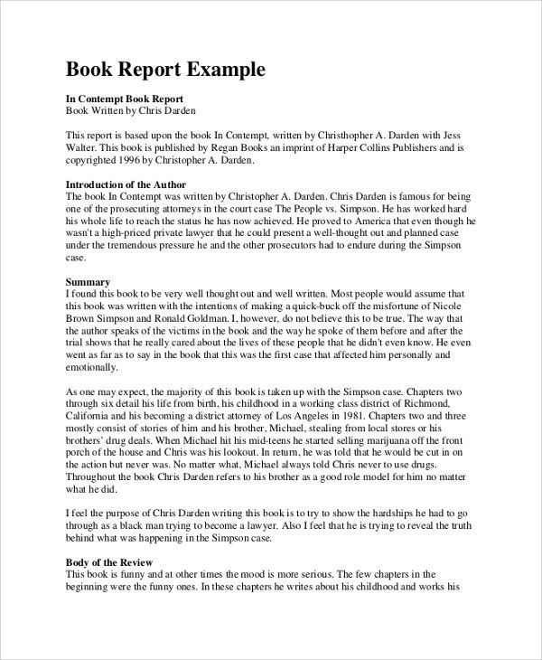 Example of book review essay
