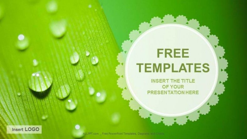 Free Green Concept PowerPoint Templates Design