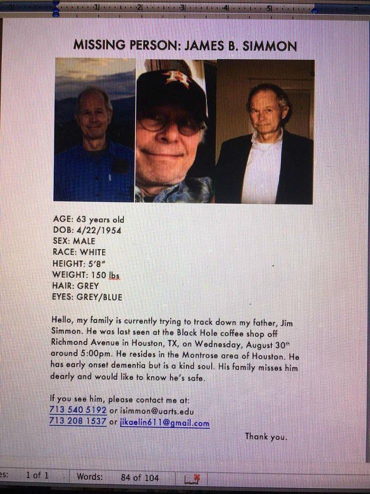 Former Houston Press editor missing in Houston FOUND – Missing ...
