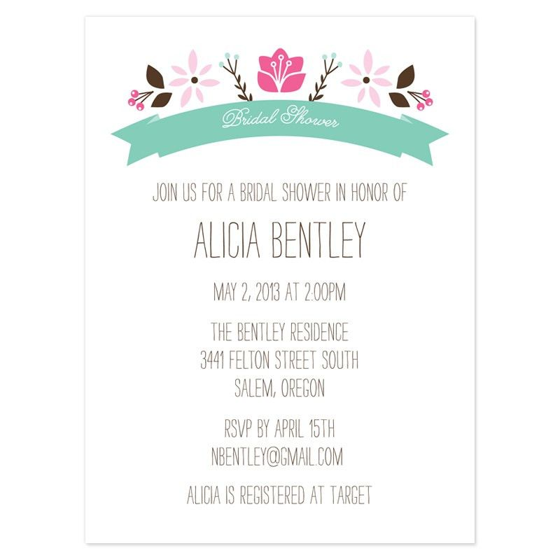 Sample Bridal Shower Invitations - reduxsquad.Com