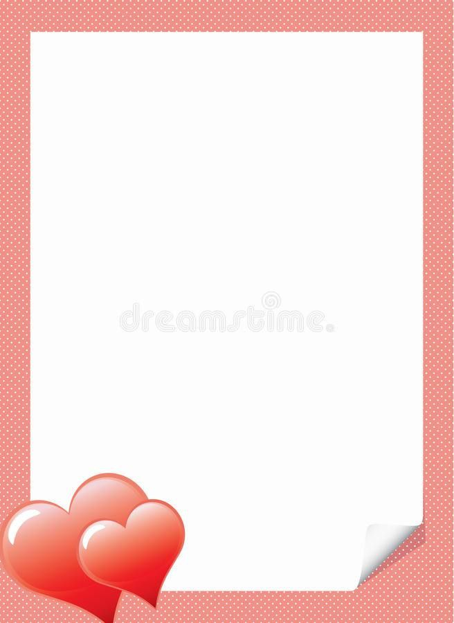 Love Letter Template With Hearts Royalty Free Stock Image - Image ...