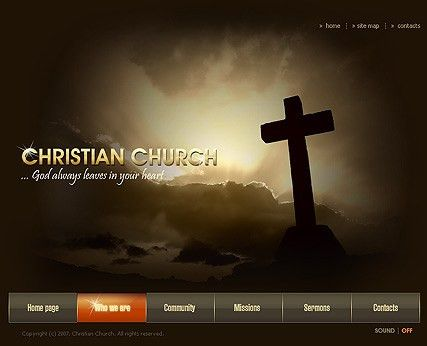 Church flash template | Best Website Templates