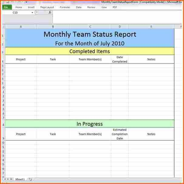 4+ weekly status template - Budget Template Letter
