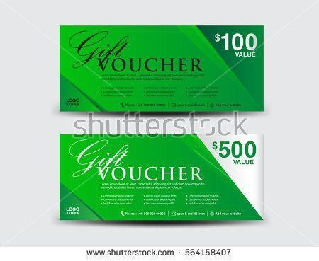 Green Gift Voucher Template Coupon Design Stock Vector 522330919 ...
