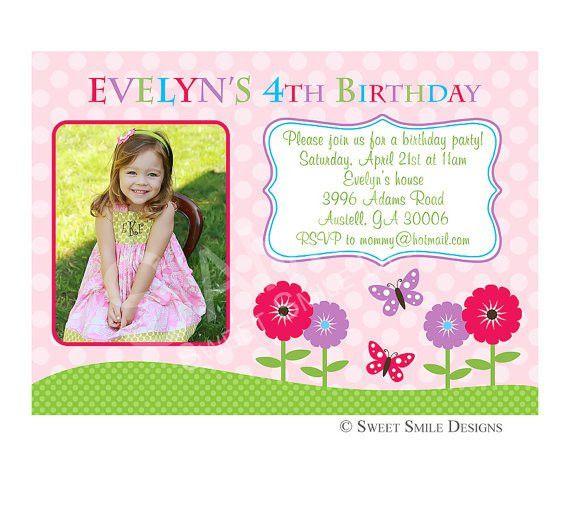 4th Birthday Invitation Wording - Themesflip.Com