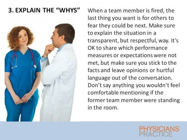 How to Fire a Physician or Staff Member the Right Way | Physicians ...