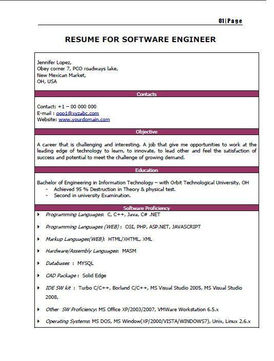 Fresh Graduate Two Page Resume | jennywashere.com