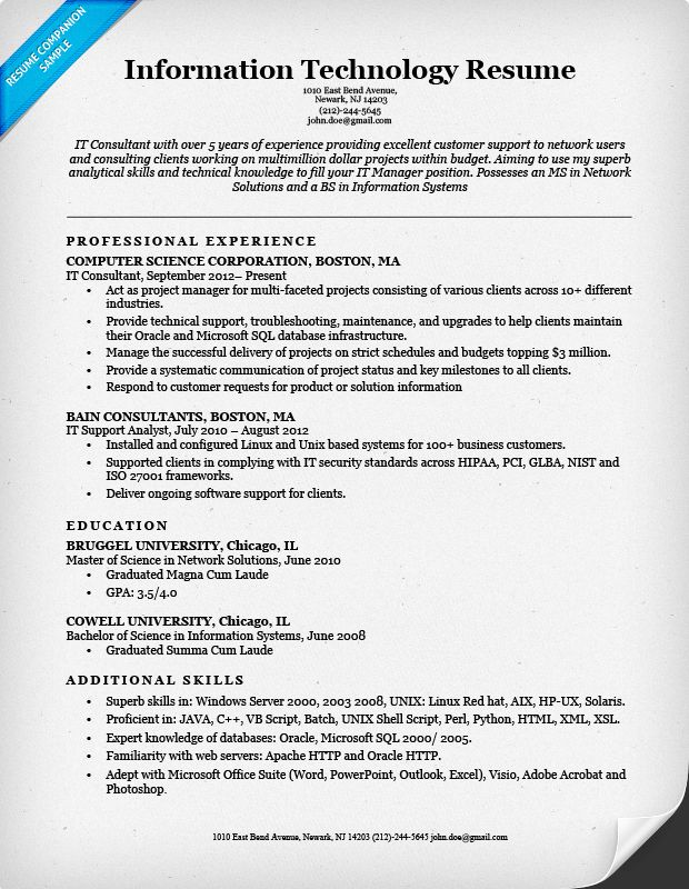 it manager cv example. best resumes examples for a resume example ...