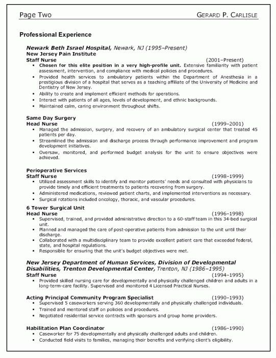 Brilliant Objectives For Nursing Resumes | Resume Format Web