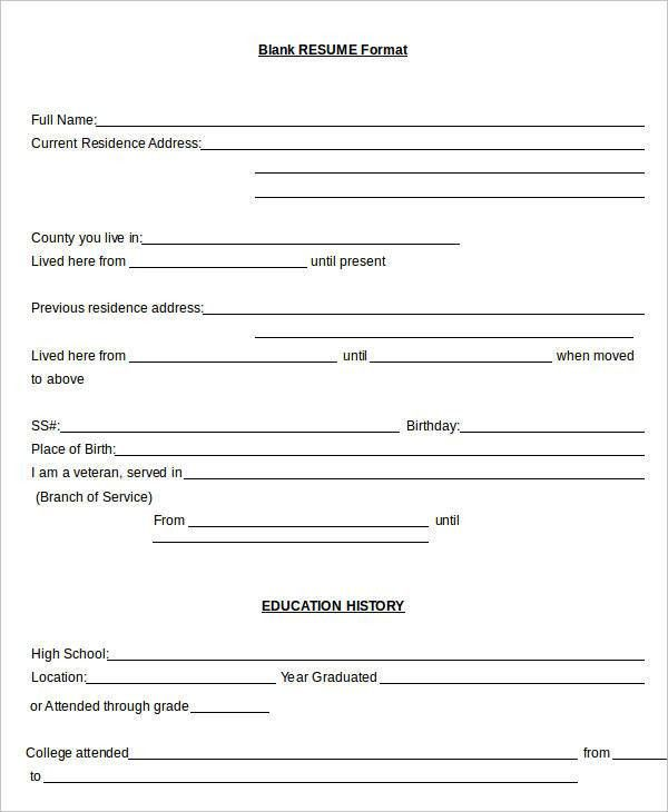 Resume in word Template - 19+ Free Word, PDF Documents Download ...