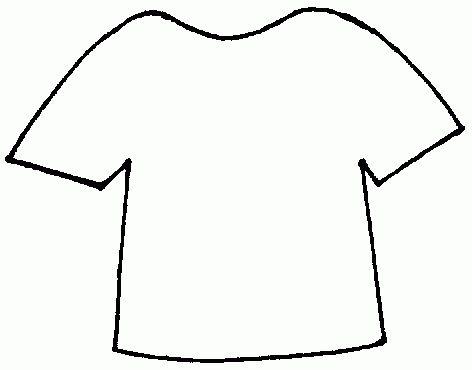 T shirt shirt outline printable clipart 6 - ClipartAndScrap