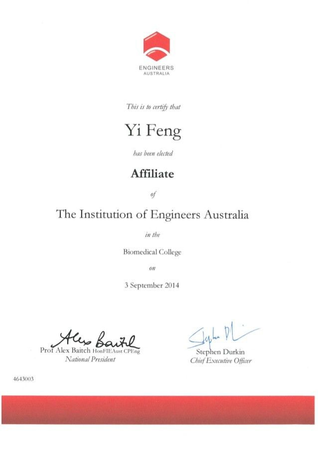 degree and engineers Australia certification