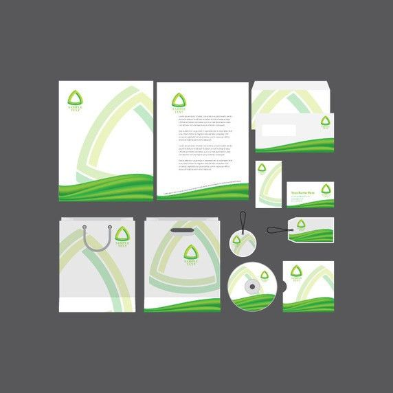 Green Company Profile Template Vector | Free Vector Download In ...