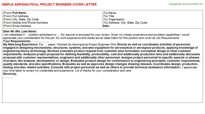 Senior Project Engineer Unconventional Cover Letters