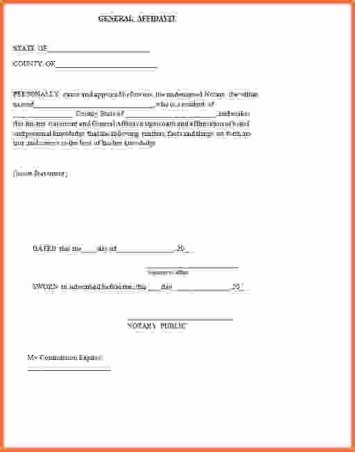 General Affidavit Form.Sample Affidavit Form Template.png - Sales ...