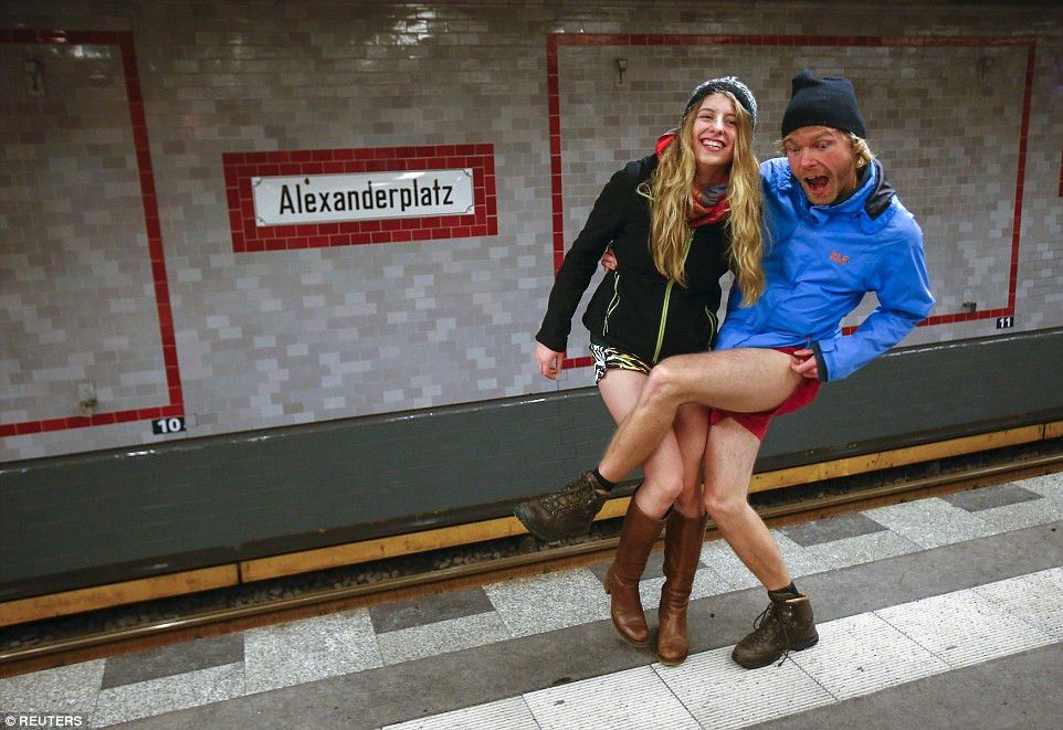 No Pants Subway Ride' day has travellers in their underwear in 60 ...