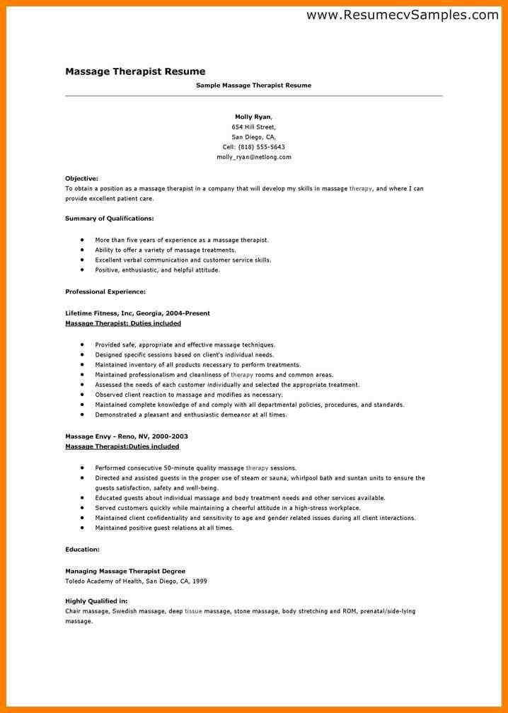 Massage Therapist Resume Pdf. speech language therapist cover ...