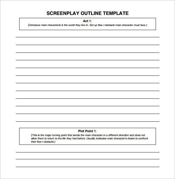Screenplay Outline Template – 7+ Free Sample, Example, Format ...