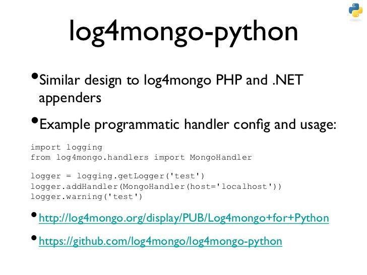 Logging Application Behavior to MongoDB