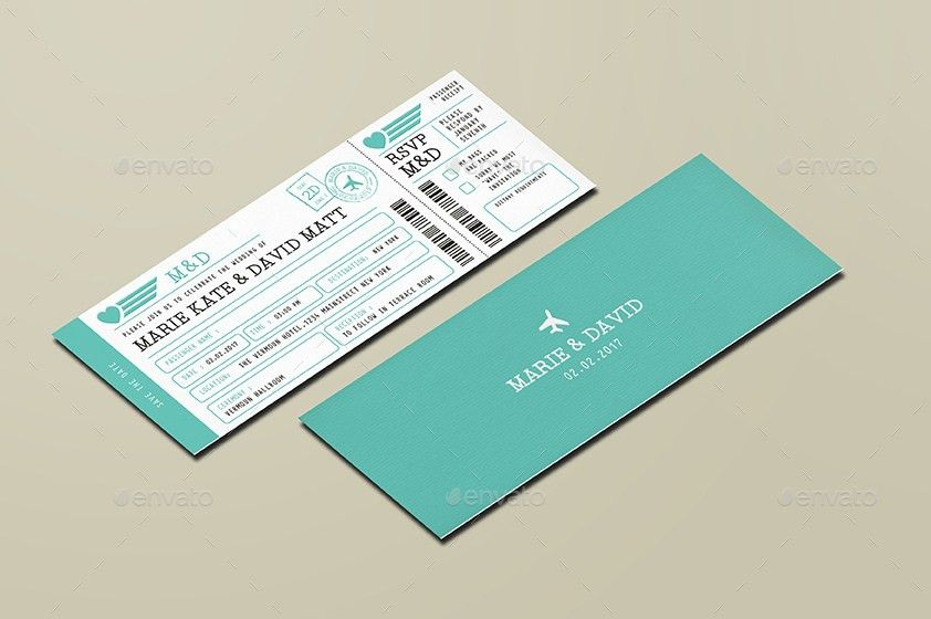 Wedding Invitation Ticket by vynetta | GraphicRiver