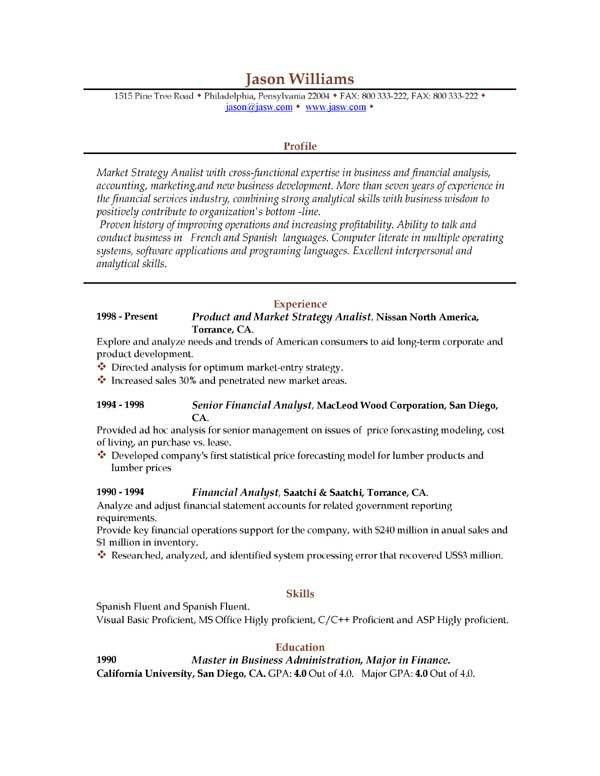 written formal resume template well designed resume format 2017 ...