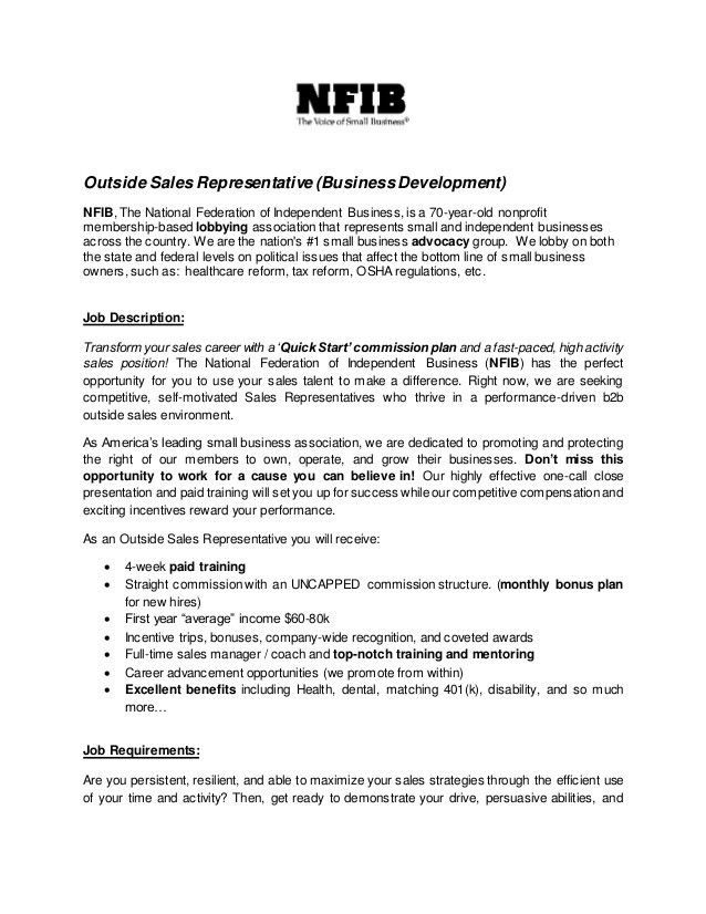 Sales Representative Job Description Sample - SampleBusinessResume ...